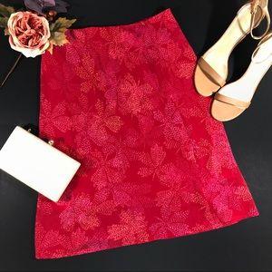 Express Chiffon Floral A-line Skirt